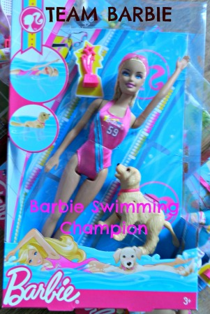 Team Barbie swimming