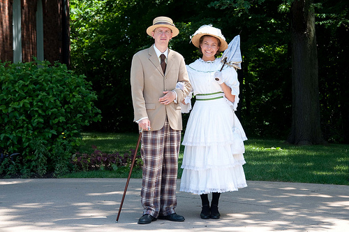Couple in period costume