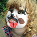 face painting children&#039;s dog
