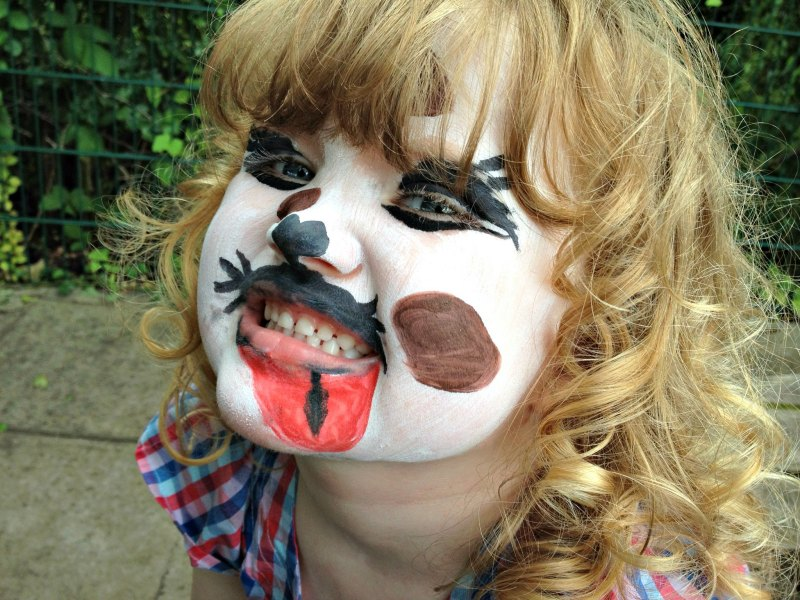 face painting children's dog