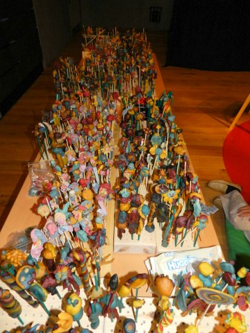 An army of sculptures