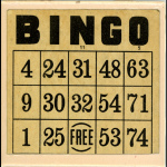 vintage bingo card thrifting