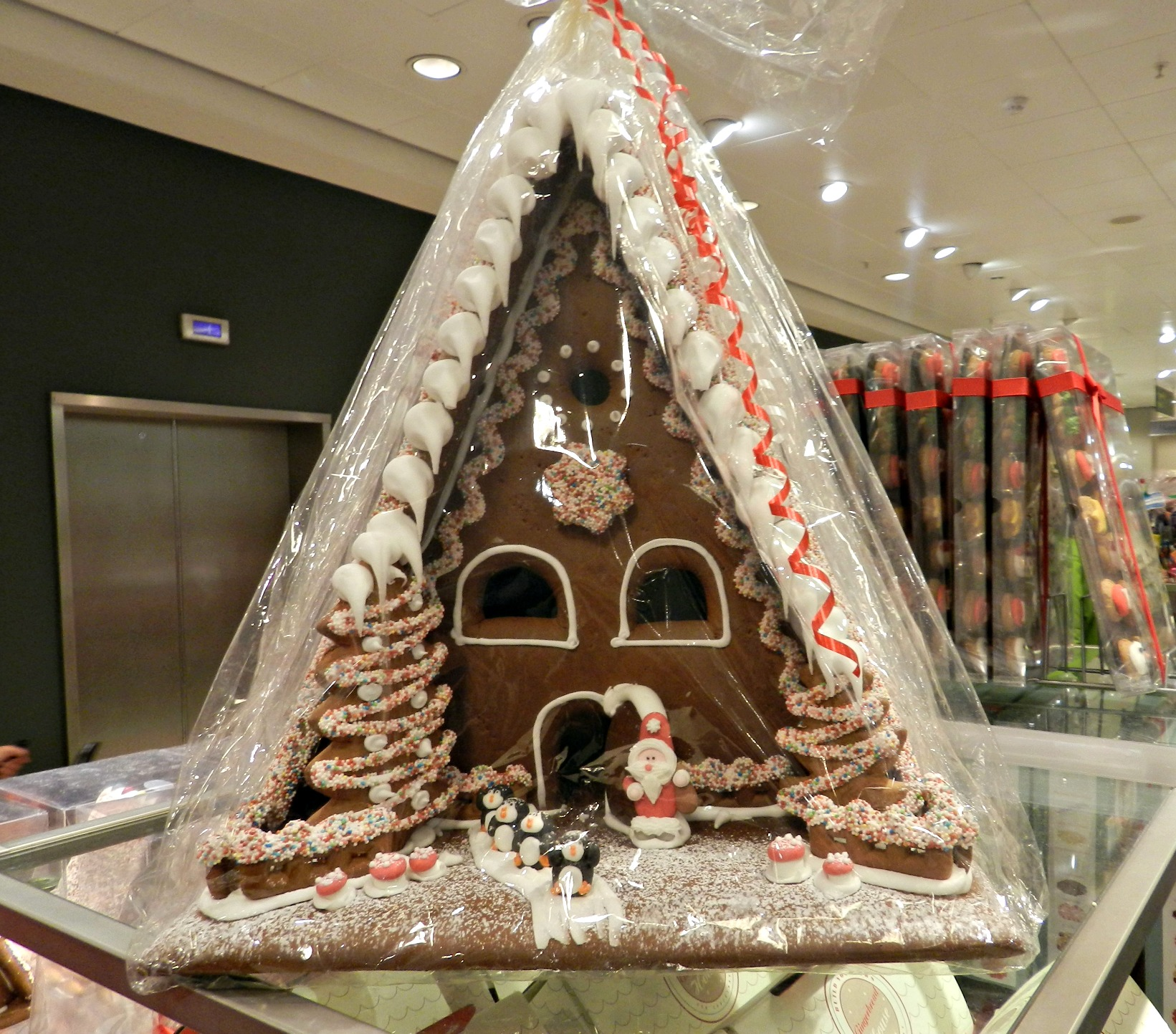 Gingerbread house, traditional christmas
