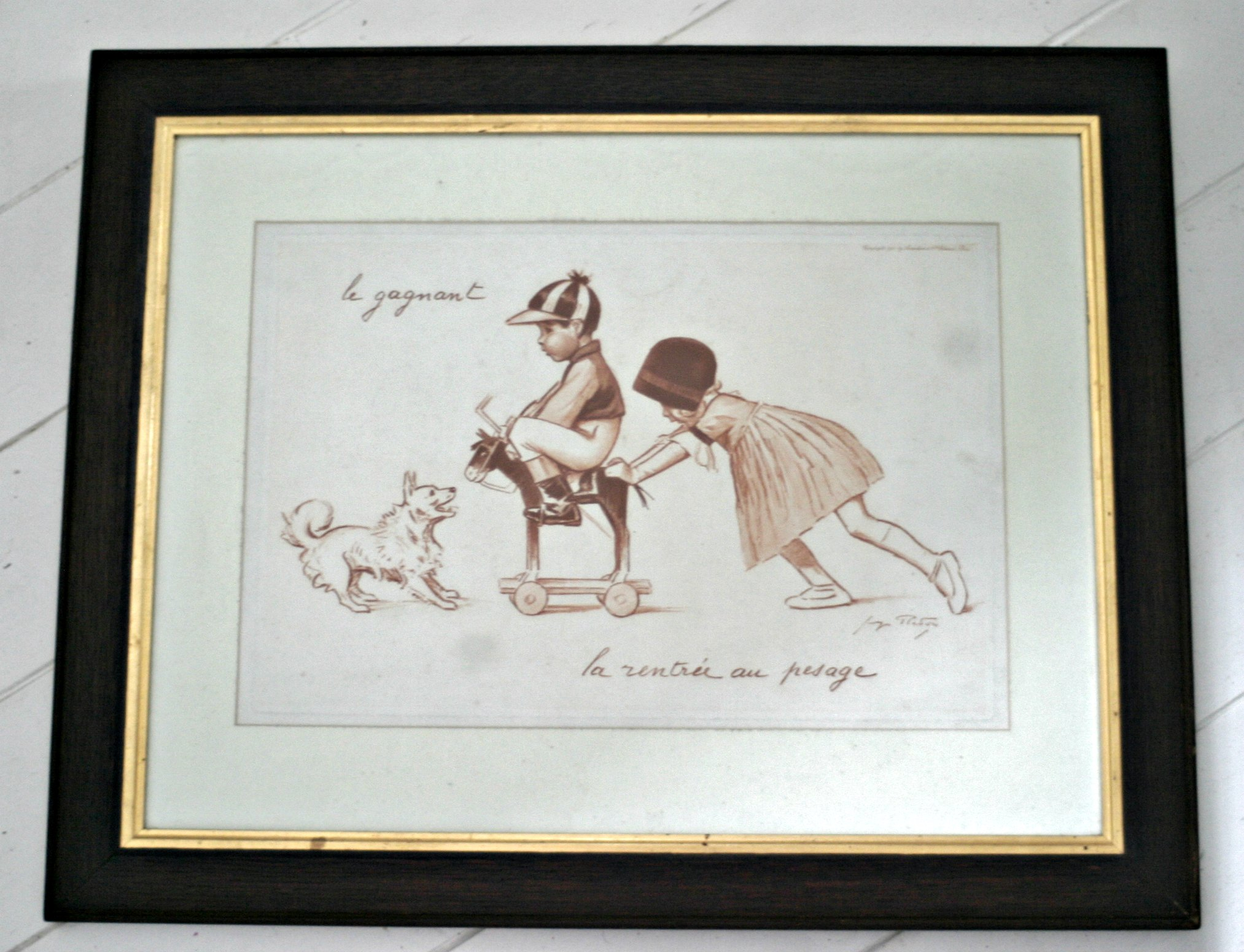 French Framed Illustration