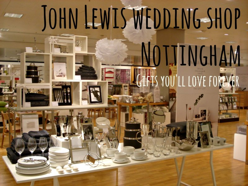 John Lewis Nottingham wedding shop