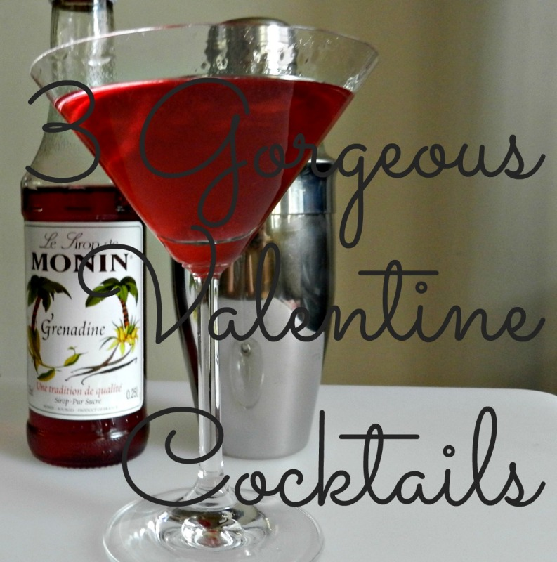 Cocktails, valentine, vodka