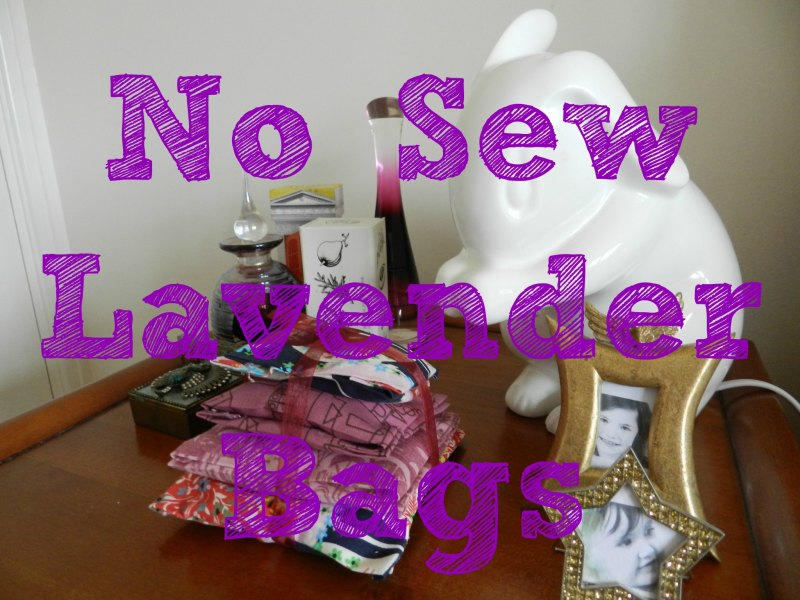 No sew lavender bags sew simple advanced fabric glue for Crafts for 10 year olds