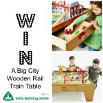 Giveaway for a Big City Wooden Rail Trai