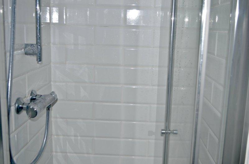 Shower in shower room en-suite makeover